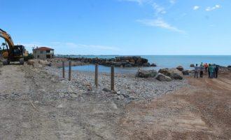 Costes reprén les obres d'emergència a la Serratella de Borriana per a reparar els efectes del temporal Glòria