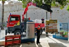 La Diputació transporta aliments per a famílies necessitades de Peníscola en col·laboració amb la Generalitat, l'Ajuntament i Creu Roja