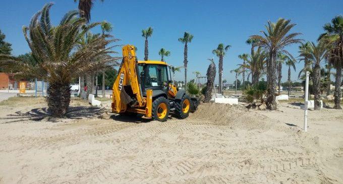 Borriana condiciona les seues platges per al seu ús en condicions òptimes en la Fase 2 de la desescalada