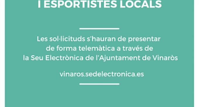 El CME de Vinaròs obri la convocatòria d'ajudes per a les entitats i esportistes locals