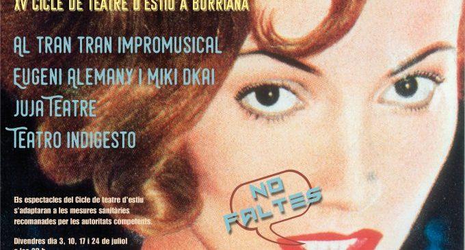 El Cicle de teatre 'A la Fresqueta' torna novament amb el mes de juliol a Borriana