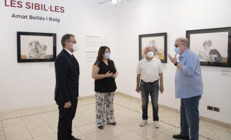 La Diputación 'reinaugura' la exposición de obras de Amat Bellés en el Espai Cultural les Aules