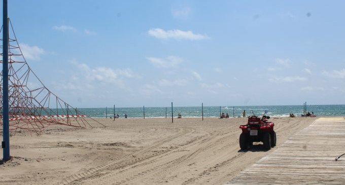 Borriana prepara un dispositiu especial per a impedir l'accés a les platges en Sant Joan