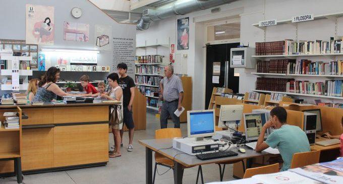La Biblioteca Municipal de Borriana obri totes les sales amb mesures de prevenció