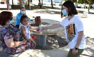 Vila-real inicia el repartiment de 10.000 envasos individuals de gel hidroalcohòlic als parcs infantils de la ciutat