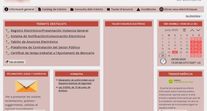 Benicarló inicia l'administració electrònica per a millorar l'eficàcia i el servei a la ciutadania
