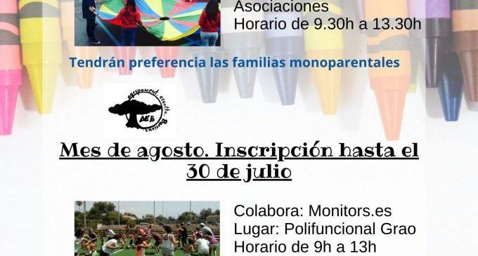 Borriana continua oferint activitats infantils en agost