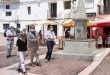 José Martí reitera su compromiso con el interior en su visita a las obras del Plan 135 en Viver, Fuente la Reina y Pina de Montalgrao