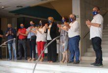La alcaldesa recibe al primer equipo del Club Deportivo Burriana