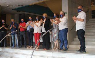 L'alcaldessa rep el primer equip del Club Esportiu Borriana