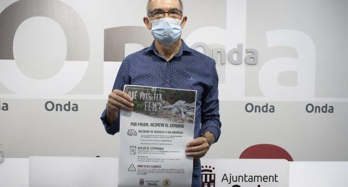 Onda inicia una campanya contra els abocaments i l'incivisme amb sancions de fins a 3.000 euros
