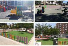 Finaliza el vallado de protección de los parques infantiles de Quarts de Calatrava y Santa Berta en Burriana