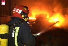 Incendi industrial declarat en una empresa citrícola de Borriana