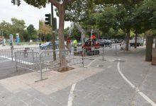 Castelló millora la via ciclista de l'avinguda Chatellerault amb la creació d'un carril únic