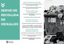 Vinaròs demana civisme davant de l'abocament irresponsable de residus