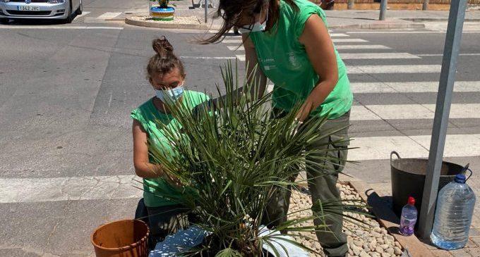 """El alumnado del programa """"Et Formem"""" de Nules colabora en el embellecimiento urbano del municipio"""