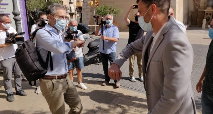 El conseller España visita Vinaròs i anuncia inversions i actuacions junt a l'alcalde Alsina