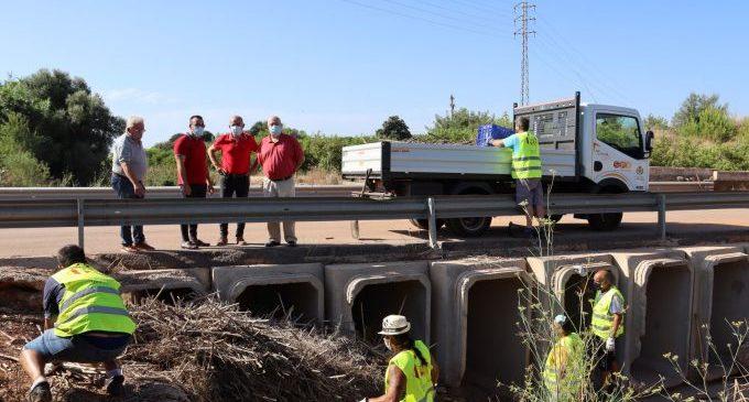 Vila-real escomet la neteja de barrancs per a prevenir avingudes i requereix a la CHJ que actue en els llits