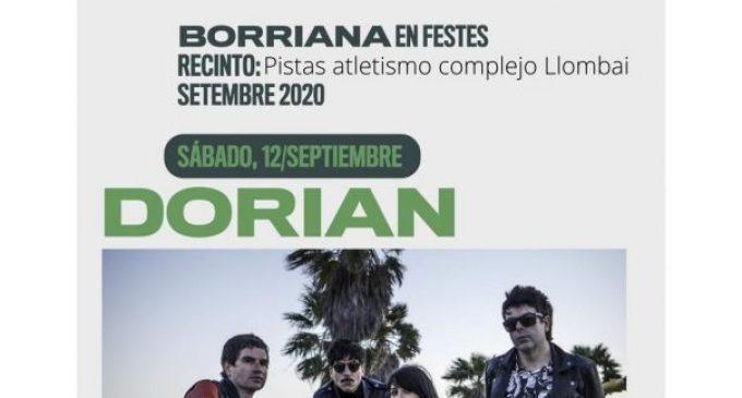 Sanitat autoritza un aforament de 800 persones per al concert de Dorian a Borriana del pròxim dissabte