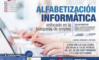 Borriana ofereix formació per a millorar les competències digitals