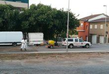Almenara continúa desinfectando sus calles