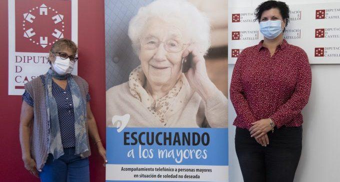La Diputació i el Teléfono de la Esperanza obrin un nou servei d'acompanyament telefònic per a persones majors