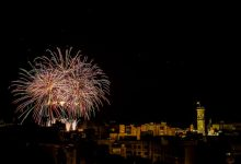 La nit del 9 d'Octubre s'il·lumina amb els focs artificials de la millor pirotècnia castellonenca