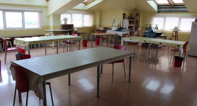 El Centre dels Arts Rafel Martí de Viciana de Borriana, preparat per a l'inici del curs