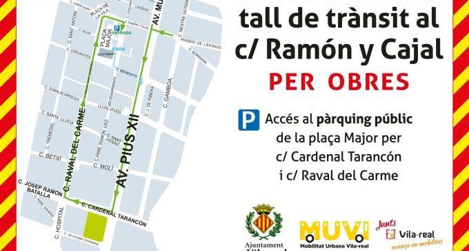 Les obres en Ramón y Cajal arranquen dilluns, de la mà d'una empresa local, per a millorar l'accés al centre