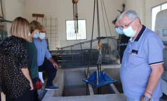 Borriana repara la bomba de buidatge de la séquia del Rajolí de la Serratella