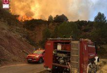 Los bomberos controlan el incendio de Bejís tras su despliegue de medios en la zona