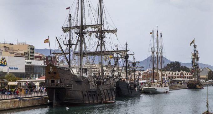 Nao Victoria i Galeón Andalucía sortegen la COVID i tornen a fer 'Escala a Castelló'