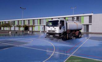 Desinfectats els patis dels centres educatius de Borriana