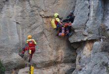 La Unidad de Rescate de Montaña del Consorcio Provincial de Bomberos de Castellón rescata a un montañero en la localidad de Montanejos
