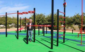 L'Ajuntament de Borriana obri el primer circuit de  cal·listènia al parc de Novenes de Calatrava