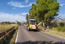 Benicàssim continúa con las tareas de desbroce en varios caminos de la zona sur