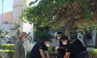 Borriana aporta terra per a l'escultura que recorda les víctimes de la Covid-19 a la Comunitat Valenciana