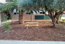 El Ayuntamiento colabora con el centro educativo para adecuar espacios al aire libre