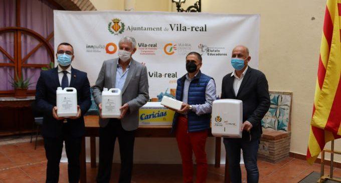 Vila-real tanca un acord amb Caricias i Laboratorios Costa per a dispensar als col·legis subministraments contra la  covid-19 gràcies al teixit industrial local