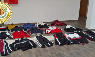 La Policía Local interviene 73 prendas de marcas falsificadas en el mercadillo ambulante de Vila-real