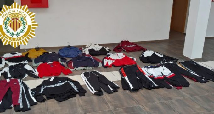 La Policia Local intervé 73 peces de roba de marques falsificades en el mercat ambulant de Vila-real