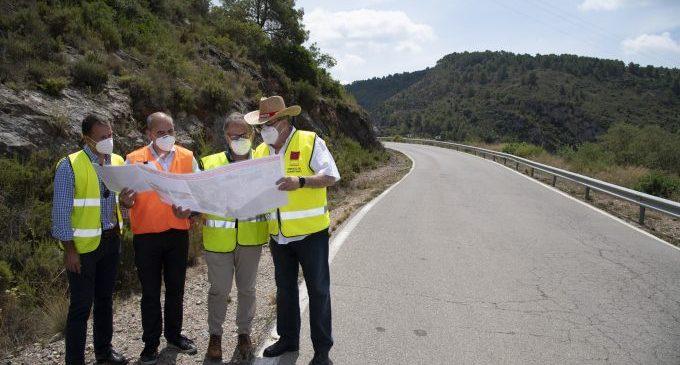 La Diputació aconsegueix 310.000 euros del Govern per a finançar la millora de la seguretat viària en dues carreteres de Villahermosa del Río i Puebla de Arenoso