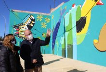 El Museo al aire libre de Vila-real suma un nuevo mural alegórico del Millars, con el sello de Anna Dobón