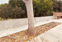 L'Ajuntament reconstrueix la paret del pati de les antigues escoles de Santa Bàrbara