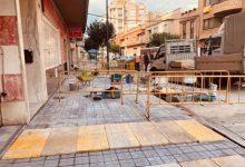 Finalizada la renovación de las aceras del camí d'Onda en Borriana