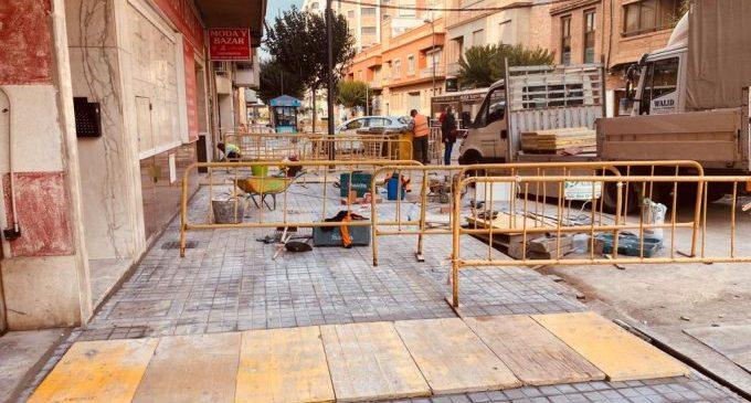 Finalitzada la renovació de les voreres del camí d'Onda a Borriana