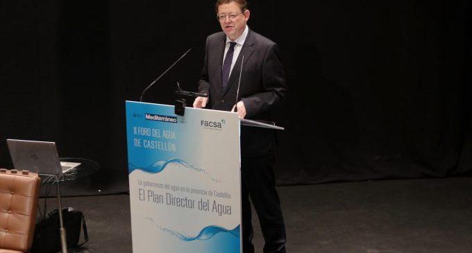 Puig anuncia que l'objectiu del Consell és reciclar el 100% de les aigües residuals de la Comunitat Valenciana
