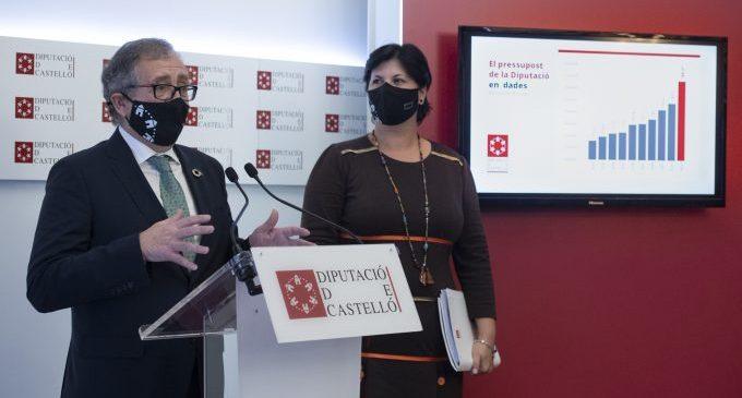 La Diputació protegirà la província de Castelló en 2021 amb un pressupost social històric de 16,5 milions d'euros