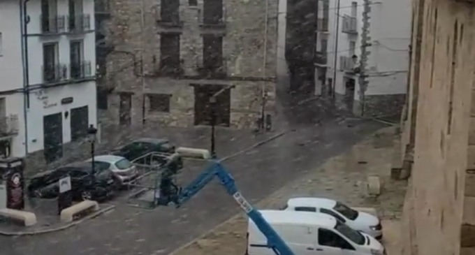Primeras nevadas en Castelló