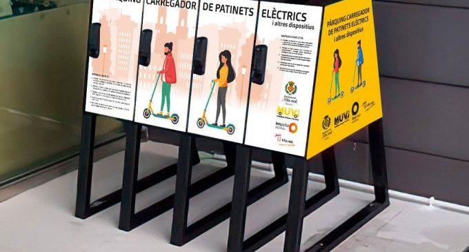 Vila-real instal·larà les dues primeres bases d'aparcament i càrrega de patinets elèctrics com a prova pilot